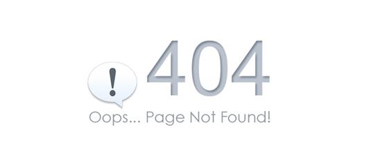 404错误,页面不存在